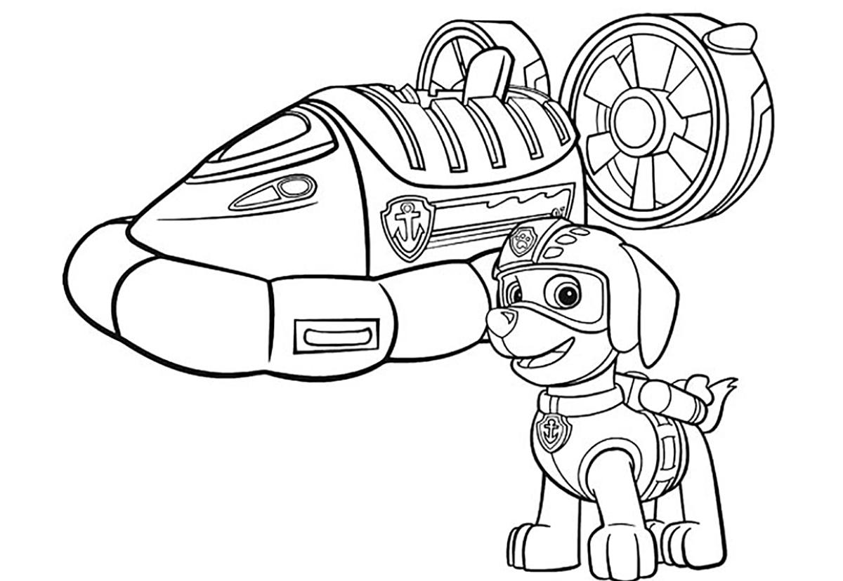 Раскраска с щенячий патруль