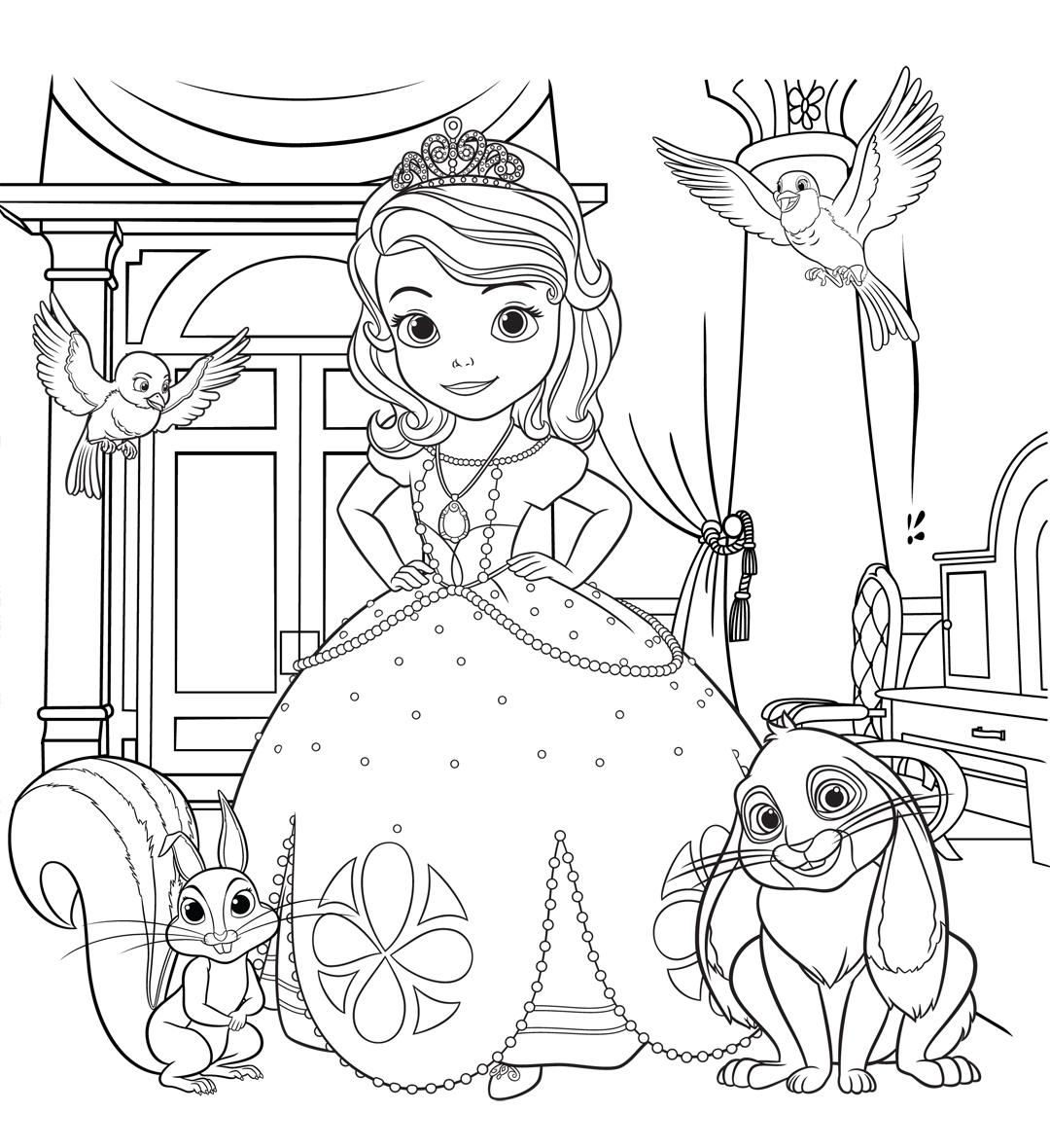 Картинка принцессы для детей раскраска