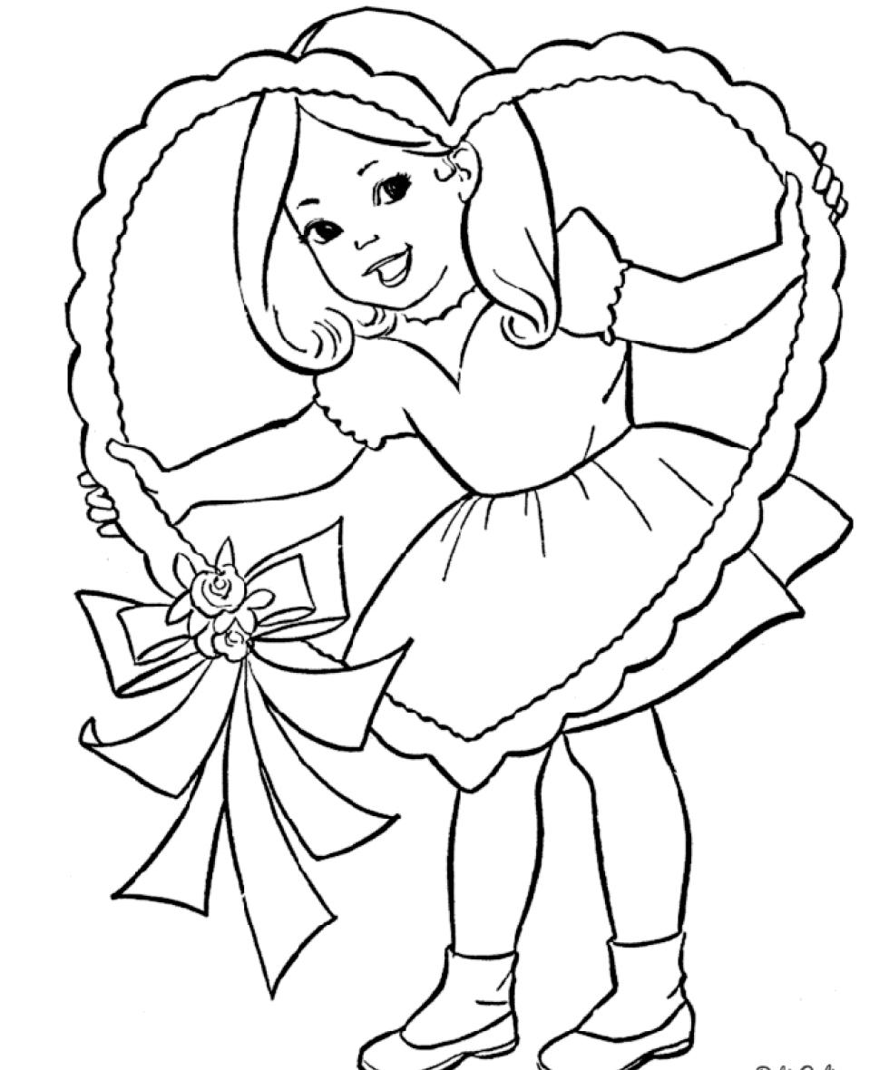 Для, раскраска открыток для девочек